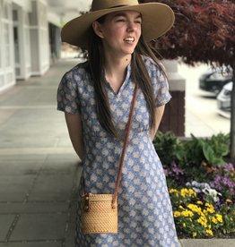 April Cornell Blue Georgette Floral Womens Dress