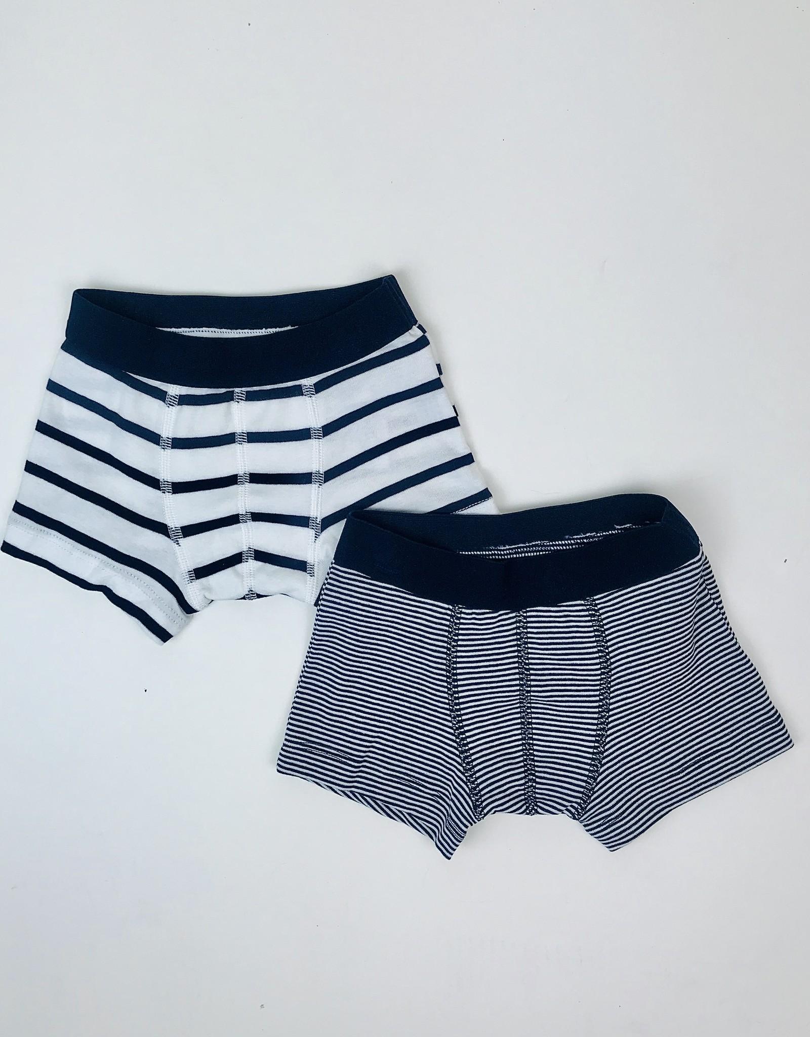 Petit Bateau Boxers Knit Navy Stripe
