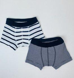 Petit Bateau Boxers Knit Navy Stripe 2pack