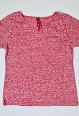 Cutie Coral Heathered Tee with pocket