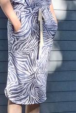 Knit Skirt Blue Zebra Print