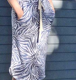 Knit Skirt in Blue Zebra