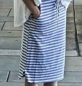 Grey Stripe Drawstring Skirt