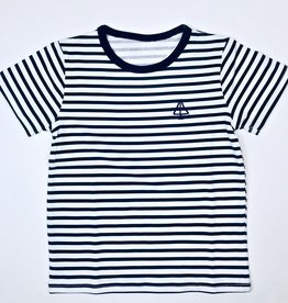 Black stripe anchor tee