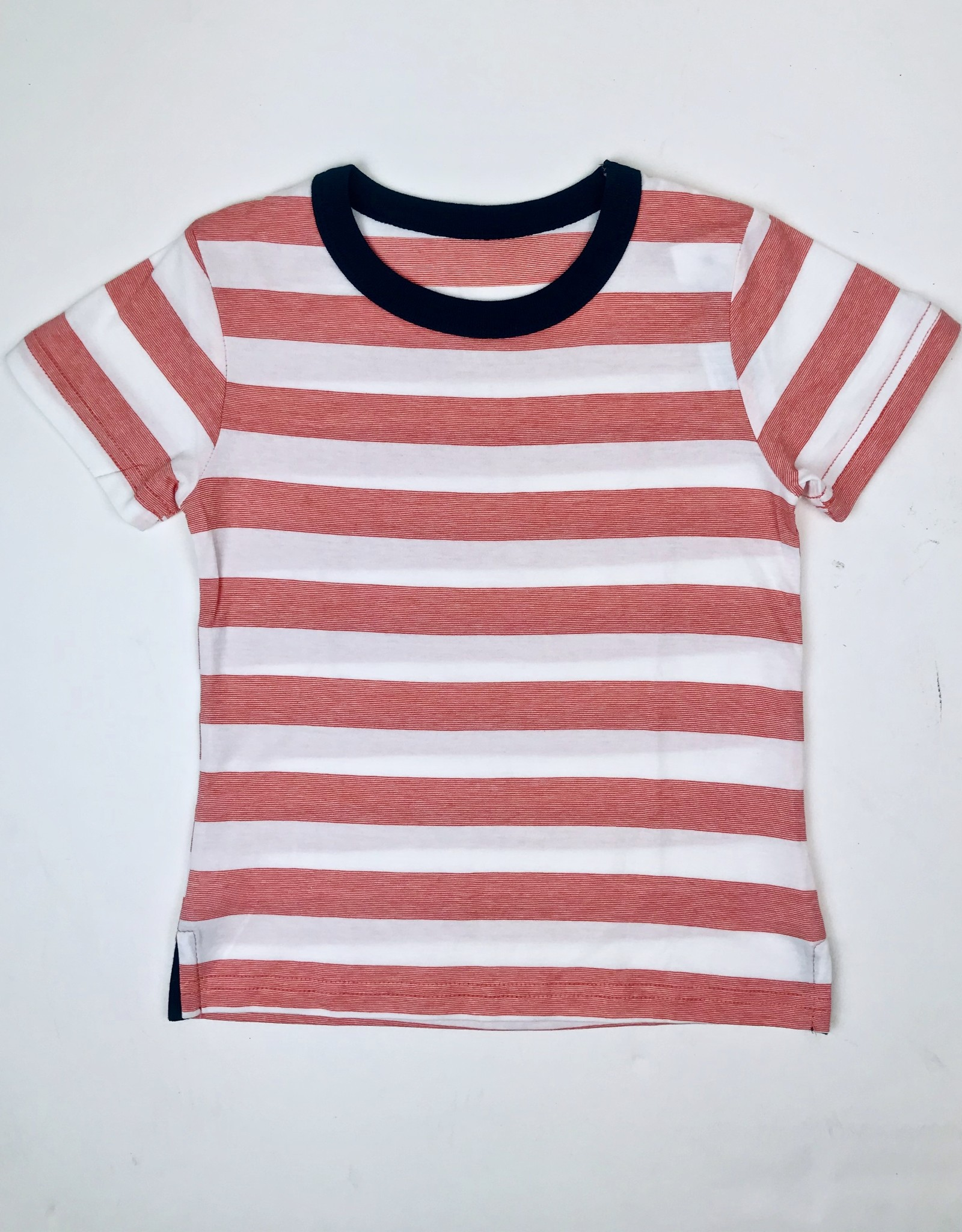 Red stripe tee with navy ringer 2-10