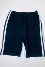 Navy Knit side stripe short 2-10