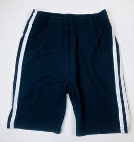 Navy Knit side stripe short