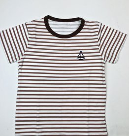Tan Stripe Tee with Sailboat