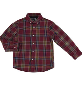 Mayoral Burgundy Tartan Plaid shirt
