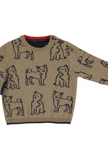 Mayoral Boys Infant  Almond sweater with Doggy jacquard