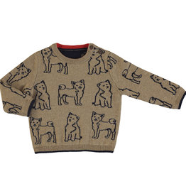 Mayoral Boys Infant sweater with Doggy jacquard