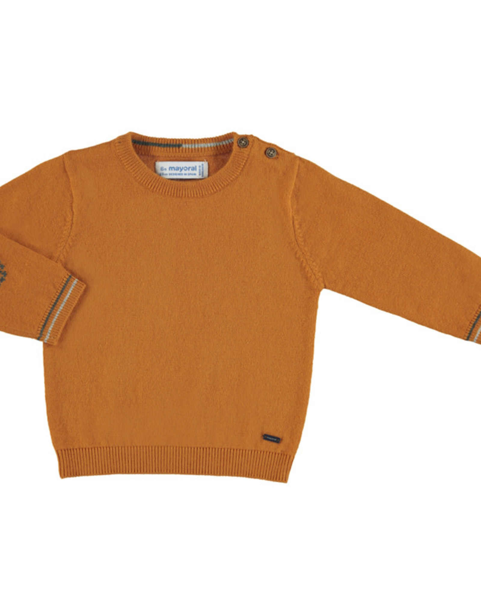 Mayoral Infant Cheddar Cotton Crew Sweater