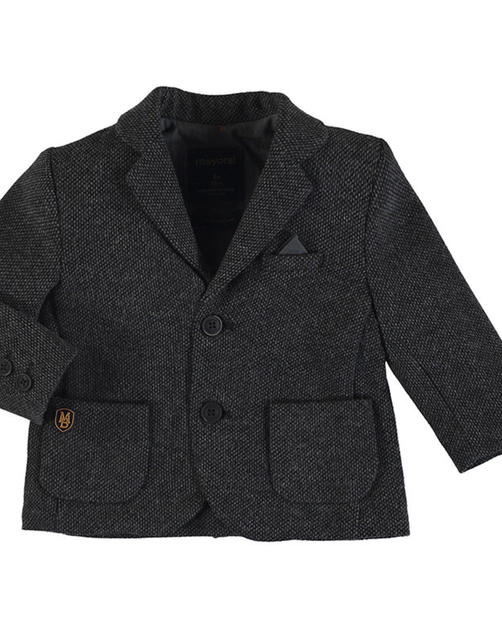 Mayoral Infant Boys Charcoal Tweed Blazer