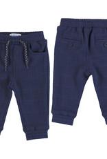 Mayoral Infant Boys Jogger Pant Blue Plaid