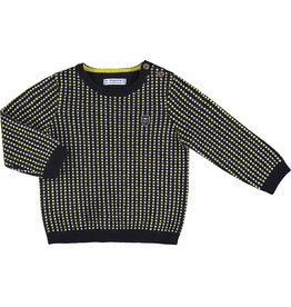 Mayoral Infant Boys Navy Yellow Waffle Sweater