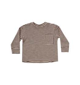 Rylee + Cru Infant Boys Oat Black Stripe Tee