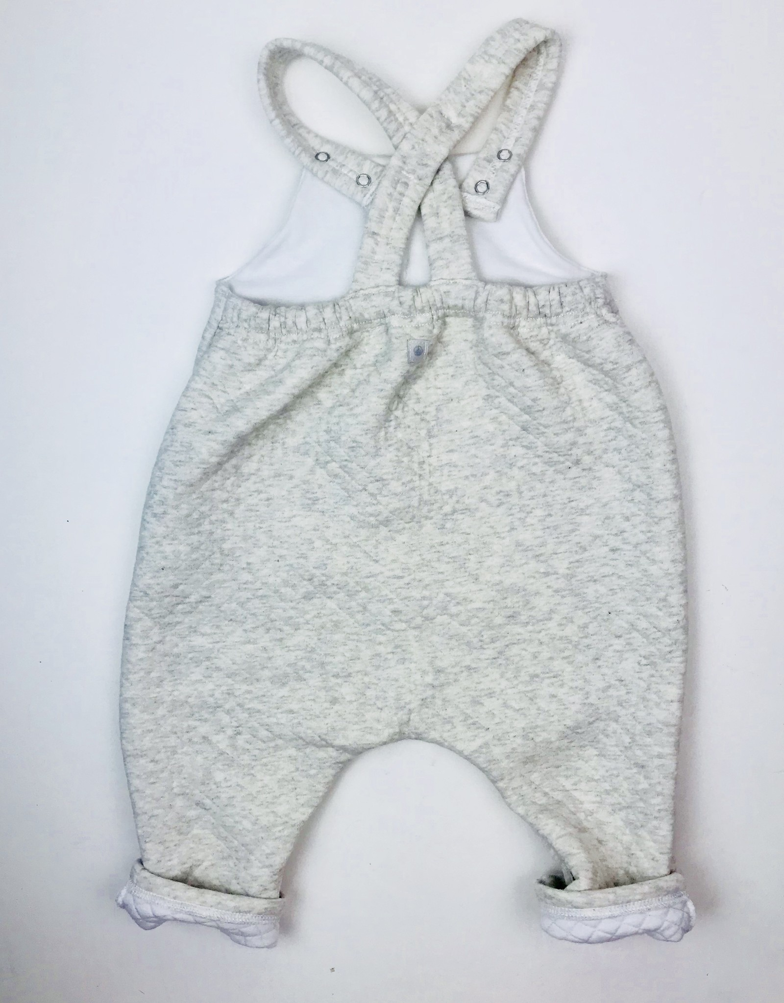 Petit Bateau Infant Ltgrey quilted Overall