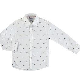 Mayoral Young Boys White Flag Print Shirt