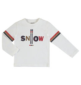 Mayoral Young Boys White  Long sleeve Tee snow & Skis
