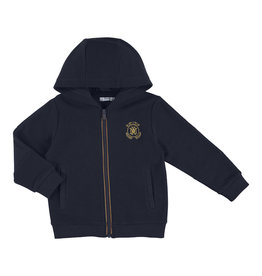 Mayoral Young Boys Navy Zip Hoody with Crest