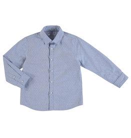 Mayoral Young Boys Shirt Blue Micro dot