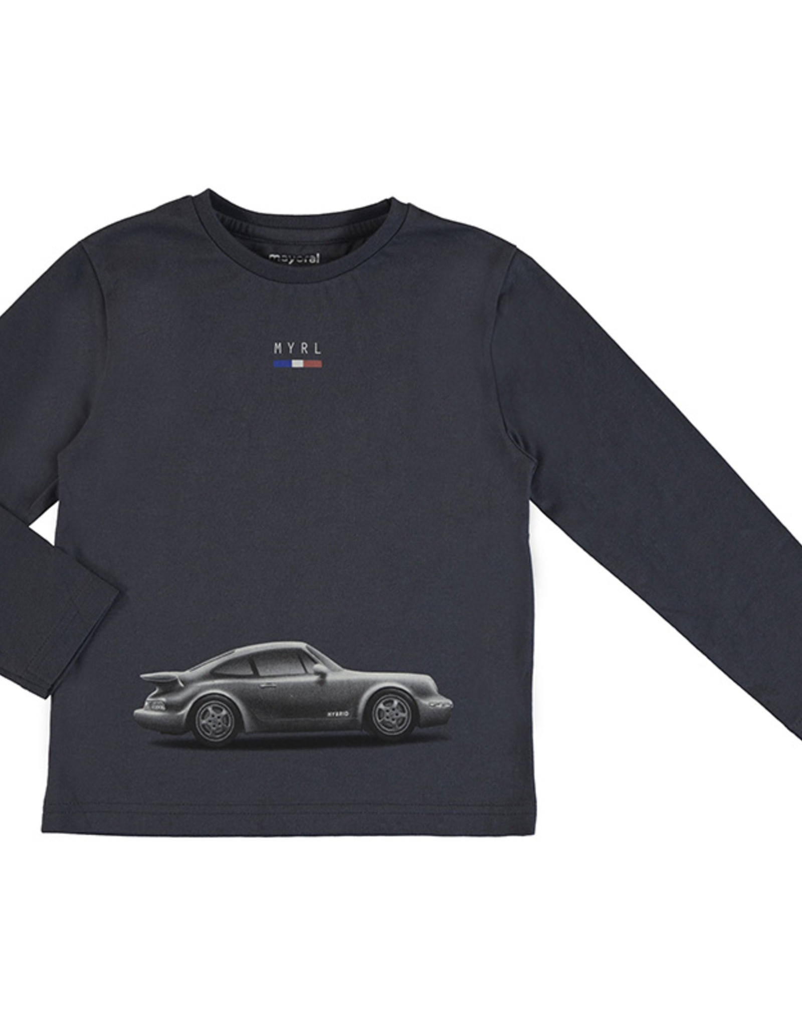 Mayoral Boys Graphite L/S Tee with Car Print