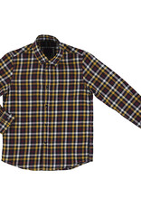 Mayoral Big Boys Gold Navy Check Flannel Shirt