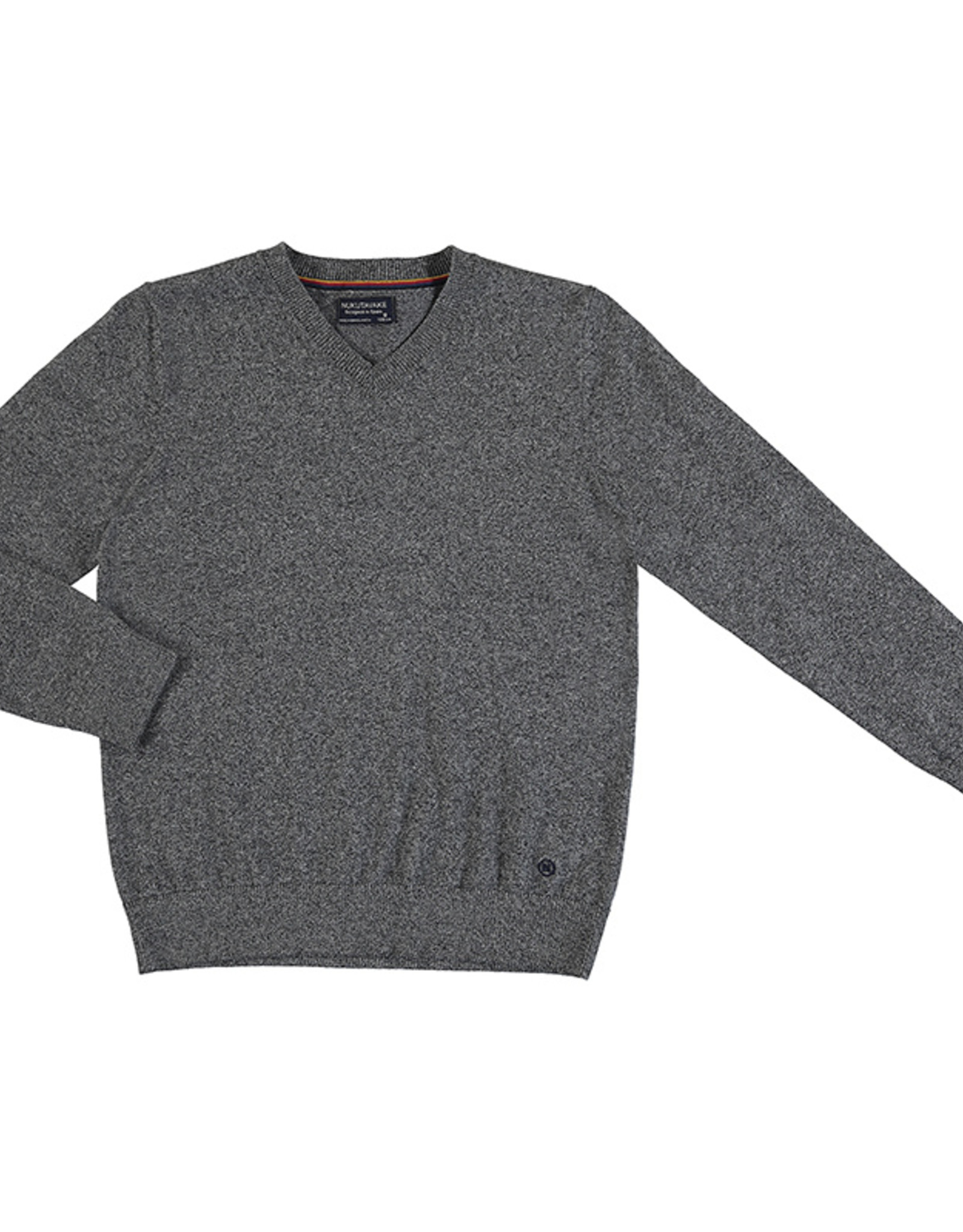 Mayoral Big Boys Heather Grey V-neck Sweater