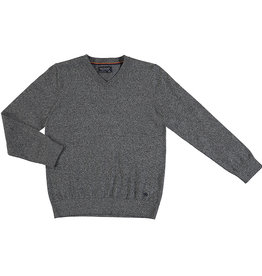 Mayoral Big Boys Heather Grey V-neck Sweater