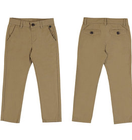 Mayoral Young Boys Mocha Slim Twill Trouser