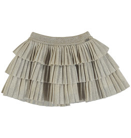 Mayoral Infant Girls Gold Pleated Layered Skirt