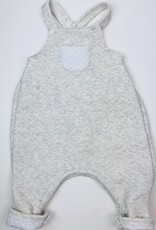Petit Bateau Infant Heather ltGrey Quilted Overall