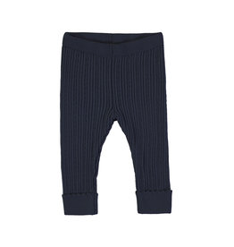 Mayoral Baby Girl Knit Navy Rib Legging