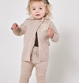 Rylee + Cru Infant Oat Honeycomb  Knit Cardigan & Legging Set