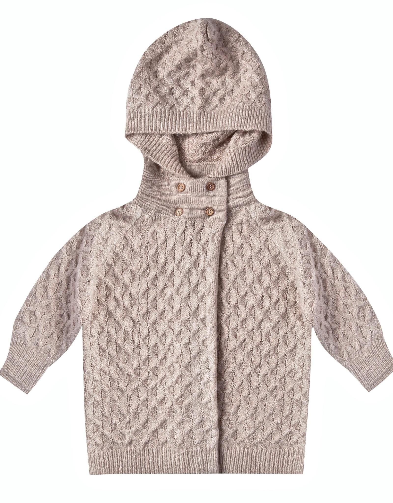Rylee + Cru Infant Oat Honeycomb Knit Cardigan & Legging