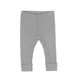 Mayoral Infant Girls Silver Knit  Rib Legging
