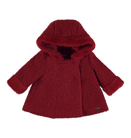 Mayoral Infant Girls Red Boucle Coat