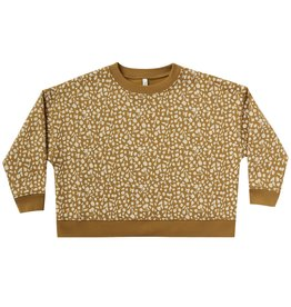 Rylee + Cru Girls Gold Berry Boxy Sweatshirt