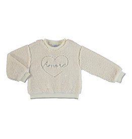 Mayoral Young Girls Cream Sherpa Amore Pullover