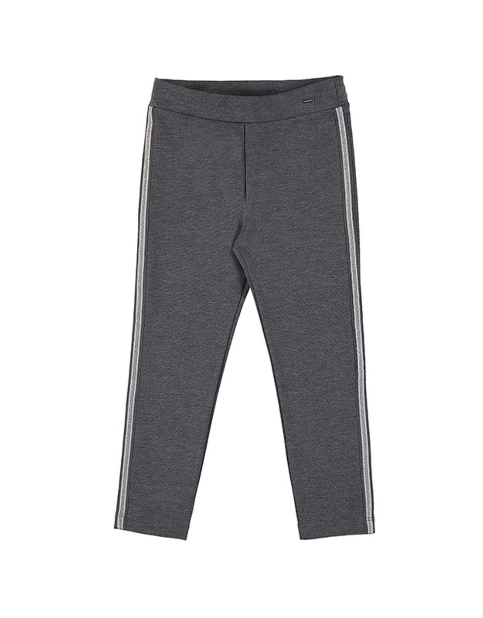 Mayoral Grey Knit Pant Metallic Track Stripe