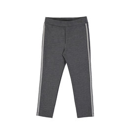 Mayoral Grey Knit Pant Metallic Track Stripe