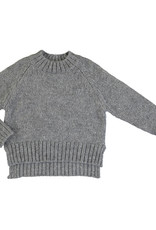Mayoral Young Girls Grey Sequin Mock Turtle Sweater