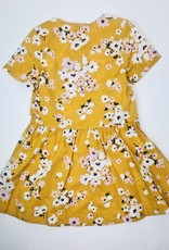 Petit Bateau Girls Yellow Floral Print Dress
