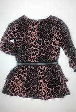 Like Flo Big Girls Rose Leopard  Dress