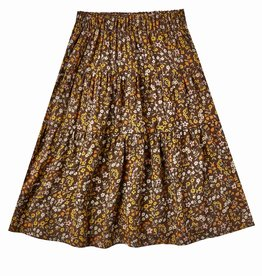 Rylee + Cru Girls  Dark Floral Tiered Skirt