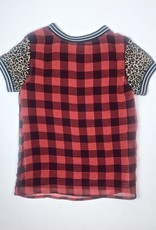 Madison Girls Chiffon Funky Red Check Top