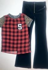 Madison Girls Black Velvet Flair Pant