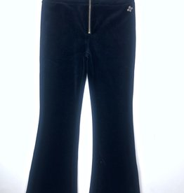 Madison Girls Black Velvet Flair Pant