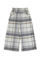Mayoral Big Girls Grey plaid wide Pant
