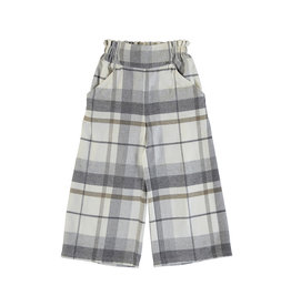 Mayoral Big Girls Grey plaid wide Pant
